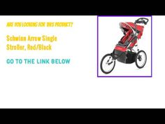 Check Out Schwinn Arrow Single Stroller, Red/Black