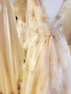 Champagne embellished tulle wedding dress by Joanne Fleming Design Such a romantic design. Tulle Wedding Gown, Bridal Gowns, Wedding Dresses, Wedding Attire, Raindrops And Roses, Rosa Pink, Ivory Silk, Mademoiselle, Mode Vintage