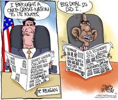 Legacy of Ronald Reagan and Barack Obama Brilliantly Compared