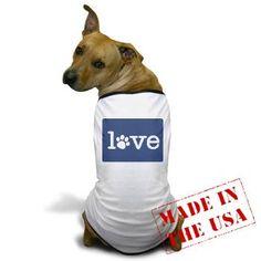 Pet love (blue) Dog T-Shirt