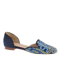 J.Crew - Pre-order Collection Cleo embroidered d'Orsay loafers
