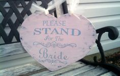 Wedding Sign Pink Wedding CRYSTALS And They Lived Happily Ever After & Please Stand for the Bride BLING