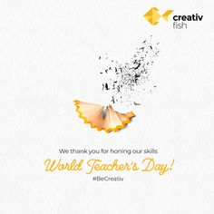 Thank you for shaping our future! Teachers Day Wishes, Teachers Day Poster, Happy Teachers Day, Ads Creative, Creative Posters, Creative Advertising, Graphic Design Tips, Graphic Design Posters, Identity Card Design