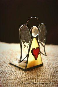 Resultado de imagen de free standing stained glass angel patterns