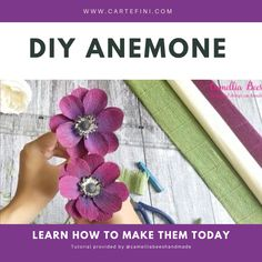 Learn how to make a paper anemone today! You just need a few utensils and Italian Crepe Paper to get started. Paper Flower Decor, Diy Flowers, Flower Decorations, Wedding Decorations, Wedding Bouquets, Wedding Flowers, Crepe Paper Flowers Tutorial, Anemone Flower, Paper Paper
