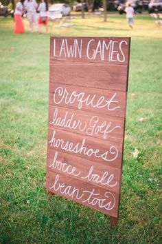 guests can play lawn games while the bride and groom are taking photos