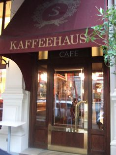 Vienna Austria - :) I am looking forward to going Here in… Coffee Shops, Salzburg, Vienna Map, Vienna Waits For You, Cafe Restaurant, Best Brunch Places, Sacher, Storefront Signs, Cruise Europe