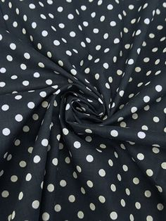 New Arrival! Muted Navy/White Polka Dot Cotton/Lycra Voile - Maggy London - 52W