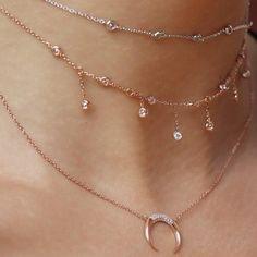 Dangle charm choker jewelry diamond chokers necklaces open collar Cz diamond