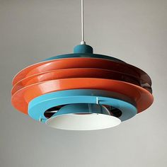 Ceiling Fixtures, Ceiling Lights, Orange And Turquoise, Space Age, Time Capsule, Retro Futurism, Vintage Lighting, Luster, Lighting Design