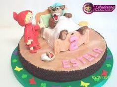 Resultado de imagen para torta caperucita y el lobo