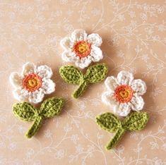 Crochet wool applique