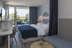 The design of the rooms at Falkensteiner Club Funimation Borik is as lively as Zadar. All Inclusive, Sweet Dreams, Rooms, Club, Bed, Furniture, Design, Home Decor, Family Activity Holidays