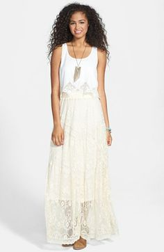 Blu Pepper Lace Maxi Skirt (Juniors) available at #Nordstrom