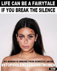 talian artist Alexsandro Palombo edited images of Kim Kardashian, Kendall Jenner, and other stars to make them appear bruised and battered as part of a new domestic violence PSA ad campaign.