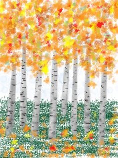 Russian Autumn..as Imagined From London  by sergeyt  iPad drawing