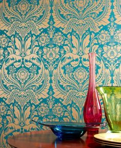 Superb Iu0027m Seriously Considering This Paper For The Breakfast Nook. Desire: Teal  Wallpaper Design Inspirations