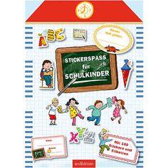 Stickerspaß fürs neue Schuljahr! Mit bunten Etiketten und Stickern können Schulkinder ihre Hefte, Mappen und Schulbücher beschriften und verzieren. So werden Schulsachen unverwechselbar und bunt!