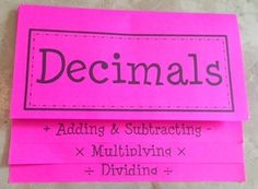 This foldable organzes the rules, steps, and examples for adding, subtracting, multiplying, and dividing decimals. A detailed answer key and steps for putting together the foldable have been provided. Please view the preview to get a better idea of the content, including the examples, that are included.