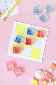 DIY Glitter Tic Tac Toe ⋆ Handmade Charlotte