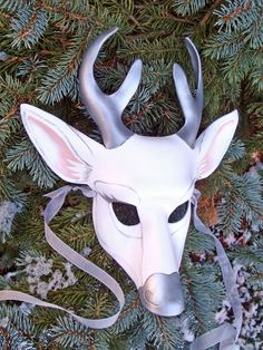 White Stag Leather Mask by merimask.deviantart.com