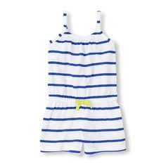 This striped romper is just right for all her casual days on the go!