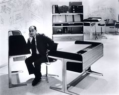 George Nelson & his avtion office, 1965