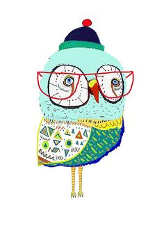 Owl Too Cool. Limited edition art print by by AshleyPercival, $40.00