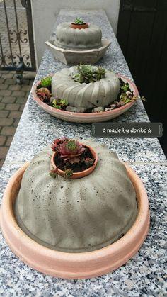 Kuchen aus beton basteln gifts diy decoration beton for Outdoor kuchen aus beton