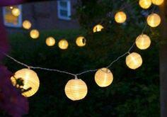 Uping Guirlande Lumineuse Lampion Batterie Etanche 20 LED 3,6 mètres Décoration Intérieure et Extérieure pour Noël Jardin Soirée et…