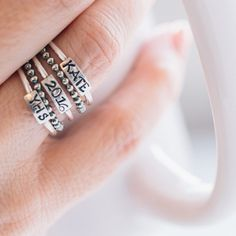 Affordable graduation jewelry gifts under $75: Unique, personalized class rings by HeidiJHale
