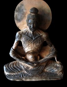 Fasting Buddha - Terracotta sculpture 2007