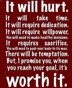 It'll be worth it.