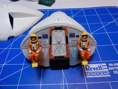 """Interior of the command module from 22"""" Eagle model kit, as built by Jim Carswell with impeccable detailing."""
