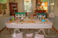 doll party tablescape