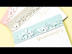 Partial Die Cut Borders - Jennifer McGuire YouTube {Love these Cards! Must make a set} (12.29.14)