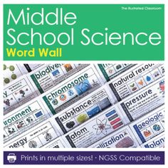 Periodic table worksheet answer key periodic table pinterest bring middle school science vocabulary to life with this big collection of editable word wall cards urtaz Images