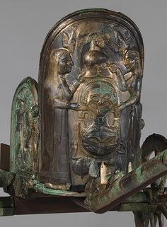 Detail, Bronze Chariot, Etruscan, c. late 6th century BC