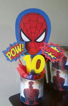 Spiderman centerpieces - visit to grab an unforgettable cool 3D Super Hero…