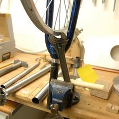 DIY wheel truing stand
