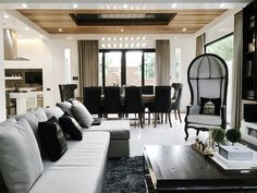 Hollywood Regency, British Style, Living Room Designs, Ph, Oversized Mirror, Interiors, Coffee, House, Furniture