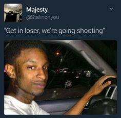 You can't shoot with us Funny Instagram Memes, Twitter Quotes Funny, Funny Relatable Quotes, Funny Tweets, Stupid Funny Memes, Funny Laugh, Funny Posts, Funny Profile Pictures, Humor