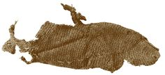 Woolen nalbinded sock, found at Coppergate (York, England).  10th century CE.