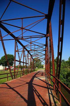 "Route 66 - One Lane Bridge in Sapulpa, Oklahoma, on old Rt. 66. ""The Fine Art Photography of Frank Romeo."""