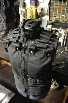 Items similar to The Vigilance SceneSick Post Apocalyptic Tactical Futuristic Unisex Cosplay CyberPunk Militant War Vest on Etsy Weird Fashion, Dark Fashion, Mens Fashion, Gothic Fashion, Steampunk Costume, Steampunk Fashion, Gothic Steampunk, Steampunk Clothing, Victorian Gothic