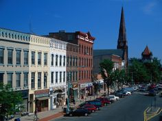 Northampton, MA--the best small town I've ever visited. Quaint and perfect. A must see. Home to Smith College.