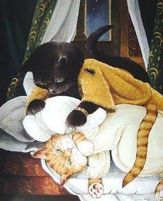 =^. ^= Cat Art =^. ^= ❤ ...By Artist Susan Herbert...