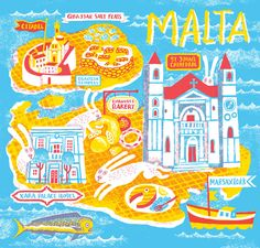 Map of Malta for Jamie Magazine by JooHee Yoon
