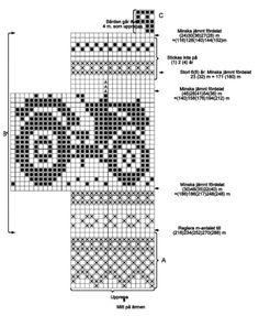 Sticka traktortröja Knitting Charts, Knitting Stitches, Knitting Patterns, Knitting For Kids, Baby Knitting, Cross Stitch Embroidery, Cross Stitch Patterns, Necktie Quilt, Fair Isle Pattern
