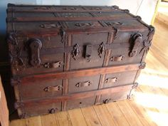 antique trunk beautiful old chest coffee table box cupboard blanket